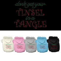Tinsel in a Tangle Rhinestone Dog Hoodie