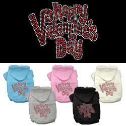 Happy Valentines Day Rhinestone Hoodies