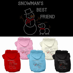 Snowman's Best Friend Rhinestone Pet Hoodies