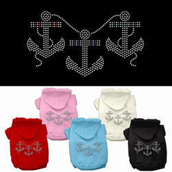 Anchors Rhinestone Hoodies