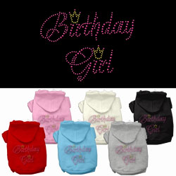 Birthday Girl Rhinestone Pet Hoodies