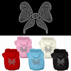 Bow Rhinestone Hoodies