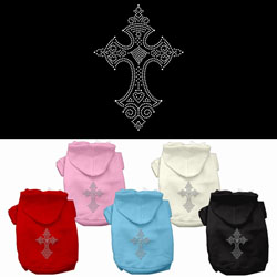 Cross Rhinestone Hoodies