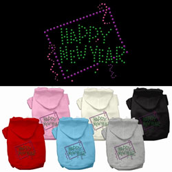 Happy New Year Rhinestone Hoodies