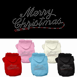 Merry Christmas Rhinestone Pet Hoodies