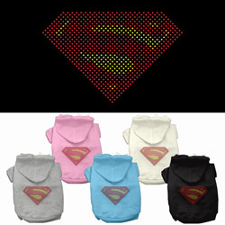 Super! Rhinestone Hoodies