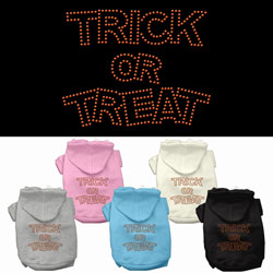 Trick or Treat Rhinestone Pet Hoodies