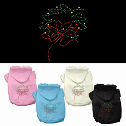 Christmas Wreath Rhinestone Pet Hoodies