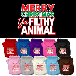 Ya Filthy Animal Screen Print Pet Hoodie