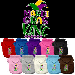 Mardi Gras King Screen Print Mardi Gras Dog Hoodie
