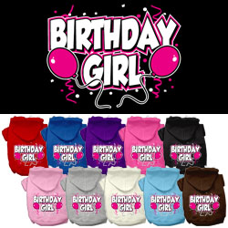 Birthday Girl Screen Print Pet Hoodies
