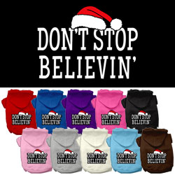 Don't Stop Believin' Screenprint Pet Hoodies