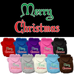 Merry Christmas Screen Print Pet Hoodies