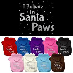 Screenprint Santa Paws Pet Hoodies
