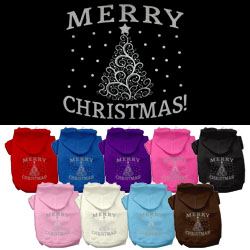 Shimmer Christmas Tree Pet Hoodies