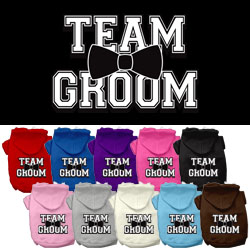 Team Groom Screen Print Pet Hoodies