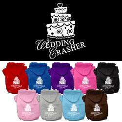 Wedding Crasher Screen Print Pet Hoodies