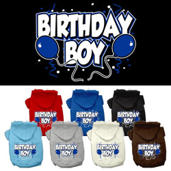 Birthday Boy Screen Print Pet Hoodies