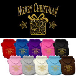 Golden Christmas Present Dog Pet Hoodies
