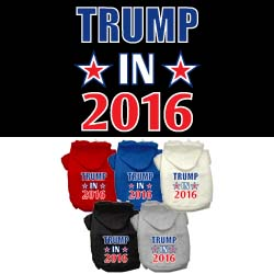 Trump in 2016 Election Screenprint Pet Hoodies