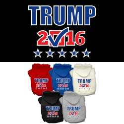 Trump Checkbox Election Screenprint Pet Hoodies