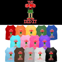 The Elf Did It Screen Print Dog Shirt
