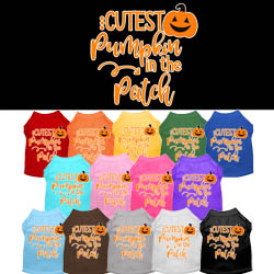 Cutest Pumpkin in the Patch Screen Print Dog Shirt