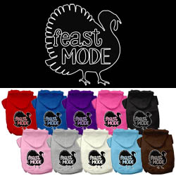 Feast Mode Screen Print Dog Hoodie
