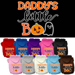 Daddy's Little Boo Screen Print Dog Hoodie