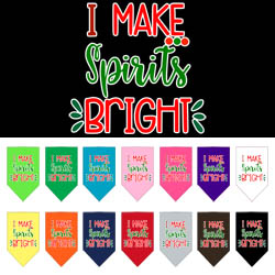 I Make Spirits Bright Screen Print Bandana