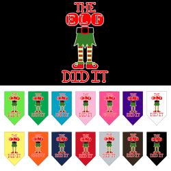The Elf Did It Screen Print Bandana