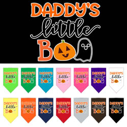 Daddy's Little Boo Screen Print bandana