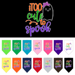 Too Cute to Spook-Girly Ghost Screen Print bandana