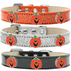 Enamel Pumpkin Halo Ice Cream Dog Collar