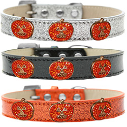 Crystal Pumpkin Halo Ice Cream Dog Collar