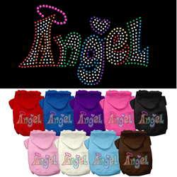 Technicolor Angel Rhinestone Pet Hoodie