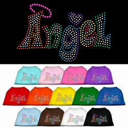 Technicolor Angel Rhinestone Pet Shirt