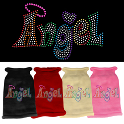 Technicolor Angel Rhinestone Knit Pet Sweater