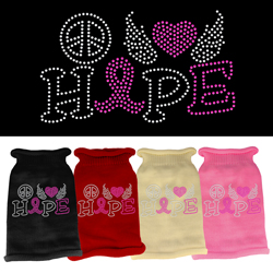 Peace Love Hope Rhinestone Knit Pet Sweater