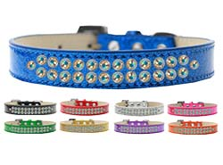Two Row AB Crystal Ice Cream Dog Collars