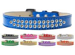 Two Row Clear Crystal Ice Cream Dog Collars