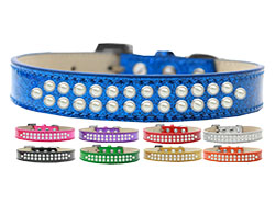 Two Row Pearl Ice Cream Dog Collars