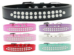 Two Row Pearl Dog Collars