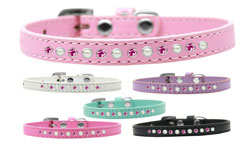 Pearl and Pink Crystal Puppy Collar