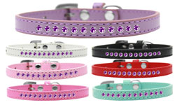 Purple Crystal Puppy Collar