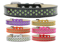 Sprinkles Ice Cream Dog Collar Lime Green Crystals