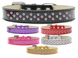 Sprinkles Ice Cream Dog Collar Light Pink Crystals