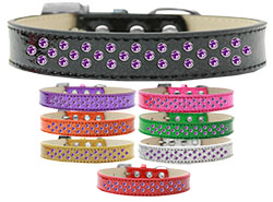 Sprinkles Ice Cream Dog Collar Purple Crystals