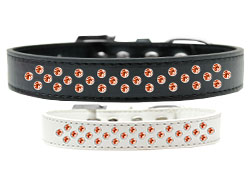 Sprinkles Dog Collar Orange Crystals