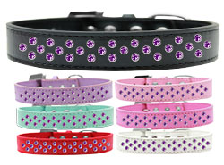 Sprinkles Dog Collar Purple Crystals